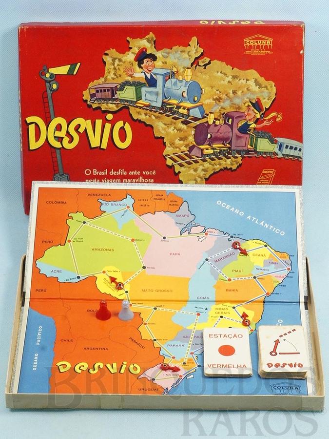 Brinquedo antigo Jogo Desvio Década de 1960