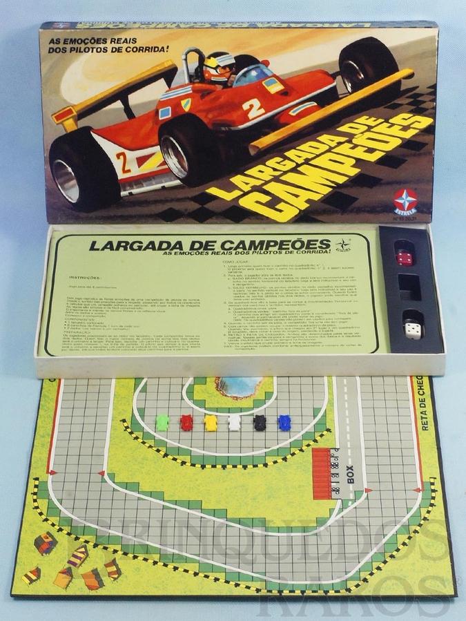 Brinquedo antigo Jogo Largada de Campeões Completo perfeito estado Ano 1980