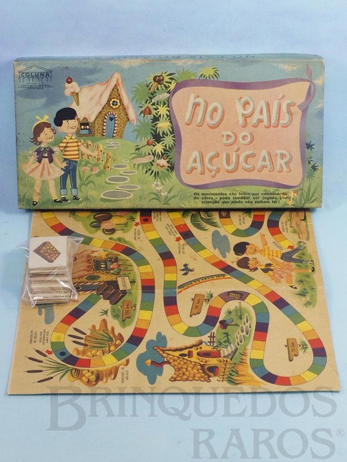 Brinquedo antigo Jogo No País do Açúcar completo Década de 1960