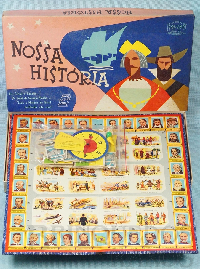 Brinquedo antigo Jogo Nossa História Década de 1960
