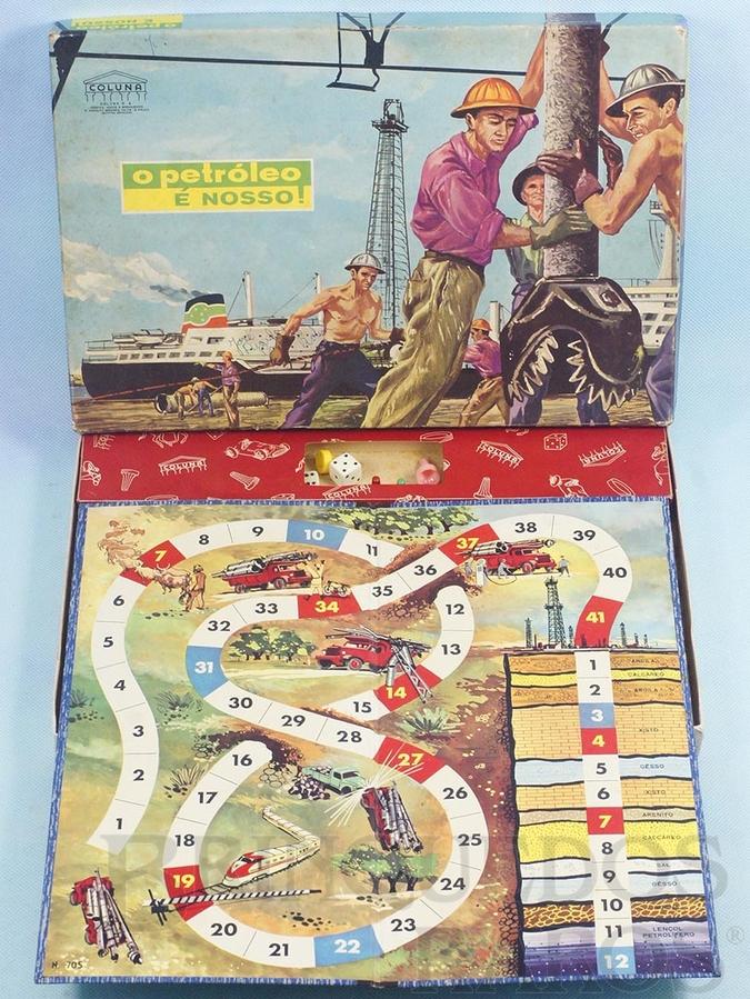 Brinquedo antigo Jogo O Petróleo é Nosso completo Década de 1960