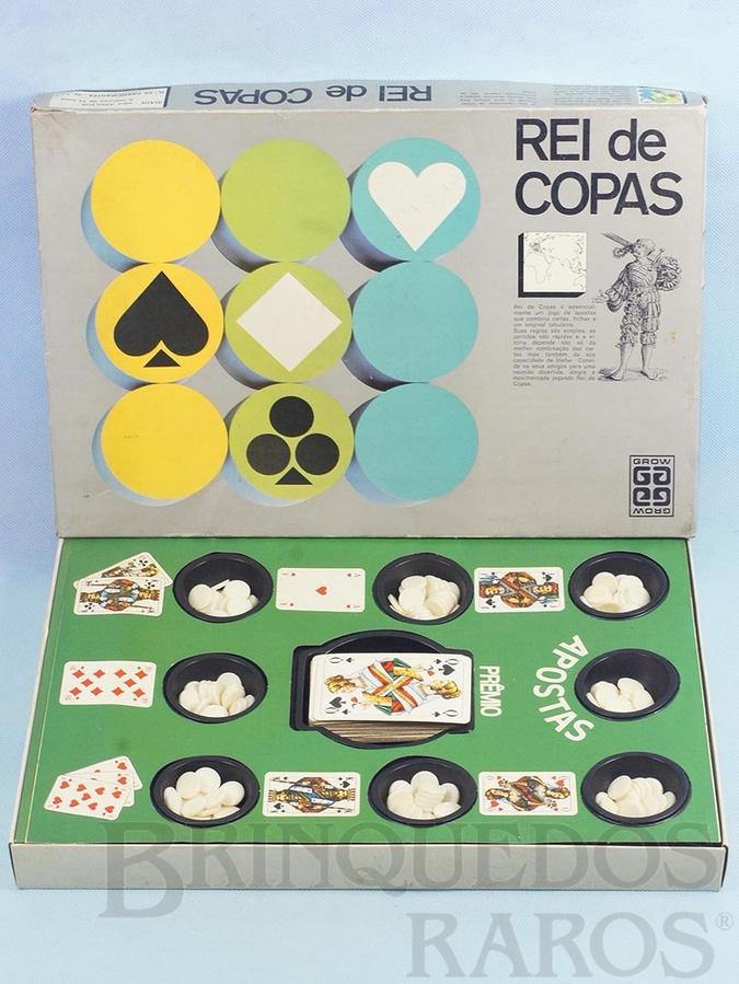Brinquedo antigo Jogo Rei de Copas falta o Manual de Instruções Década de 1980