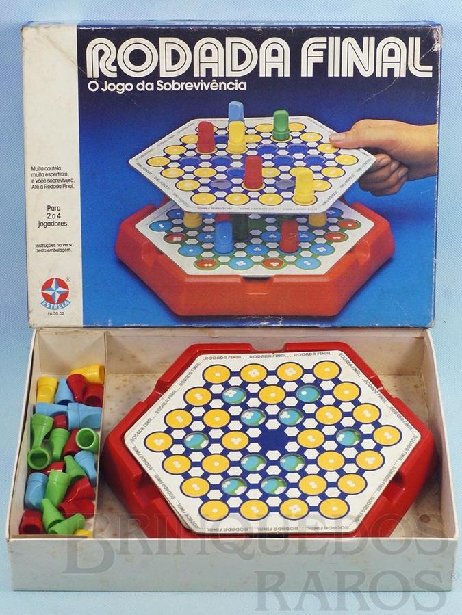 Brinquedo antigo Jogo Rodada Final O Jogo da Sobrevivência completo Ano 1984
