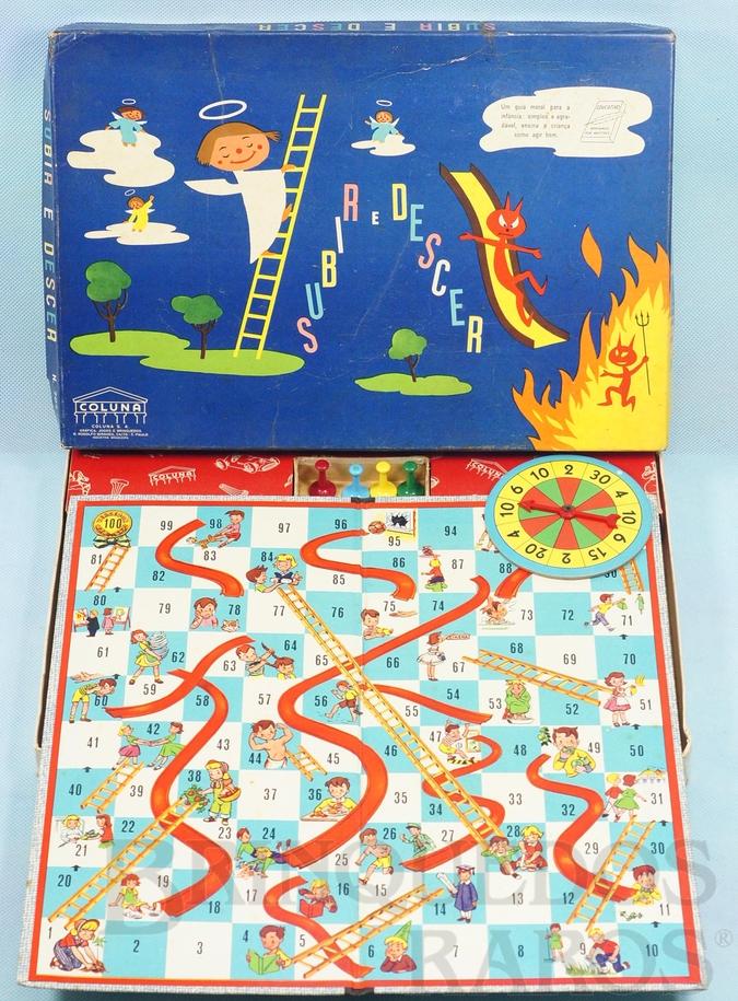 Brinquedo antigo Jogo Subir e Descer Década de 1960