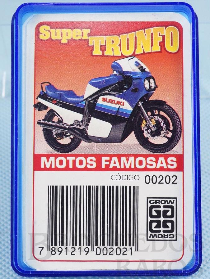 Brinquedo antigo Jogo Super Trunfo Motos Famosas Década de 1990