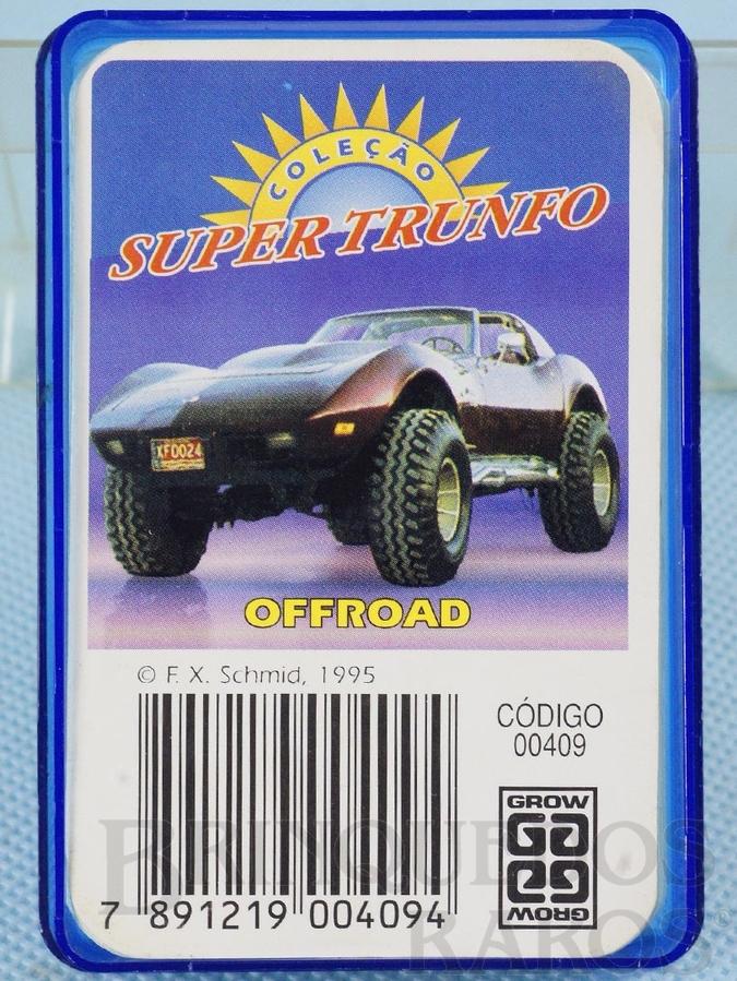 Brinquedo antigo Jogo Super Trunfo Offroad Década de 1990