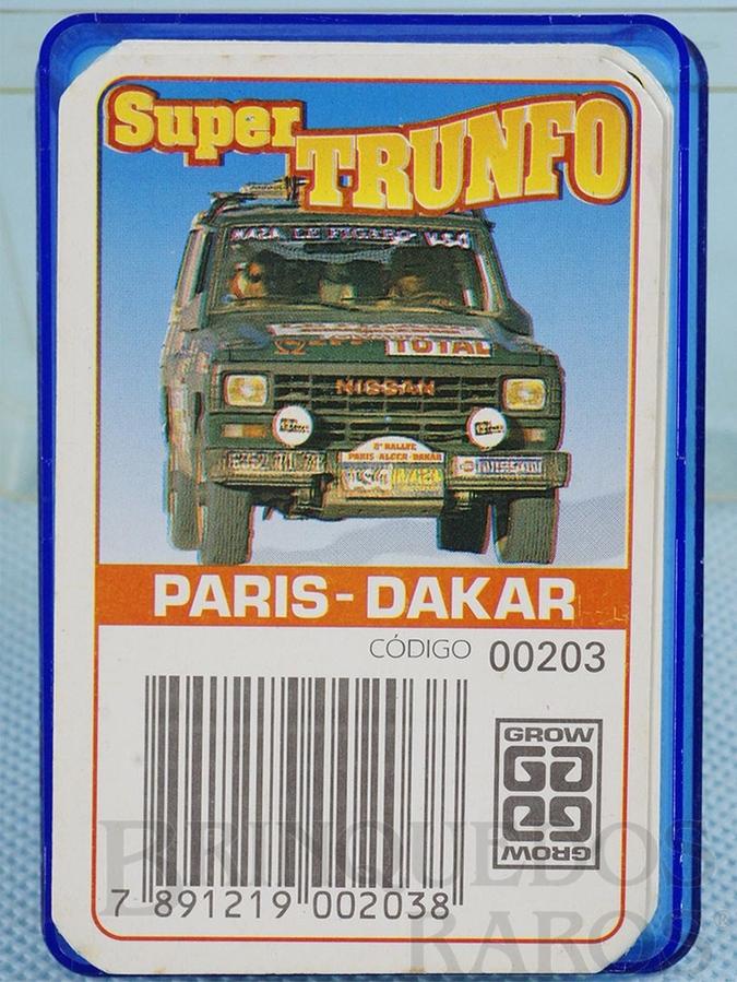 Brinquedo antigo Jogo Super Trunfo Paris Dakar Década de 1980