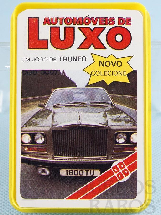 Brinquedo antigo Jogo Trunfo Automóveis de Luxo Década de 1980
