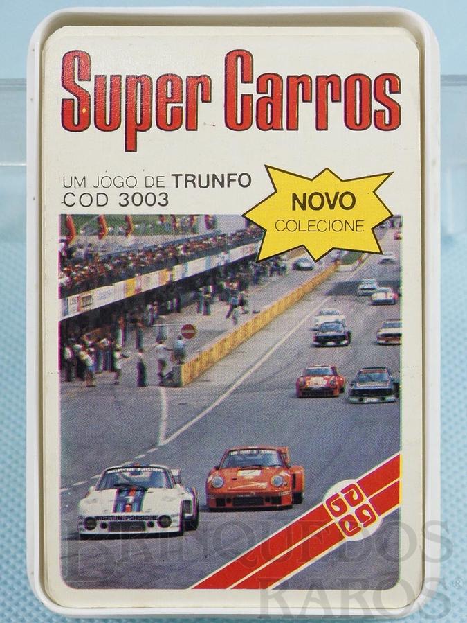 Brinquedo antigo Jogo de Trunfo Super Carros Década de 1980