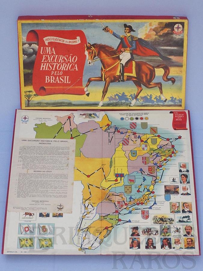 Brinquedo antigo Jogo Uma Excursão Histórica Pelo Brasil Série Certame Instrutivo Prof. Alcides Nascimento Caixa Datada 06 Dezembro de 1967 RESERVED***AB***