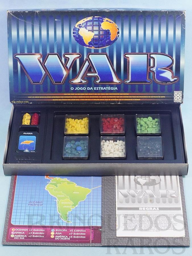 Brinquedo antigo Jogo War Década de 1980