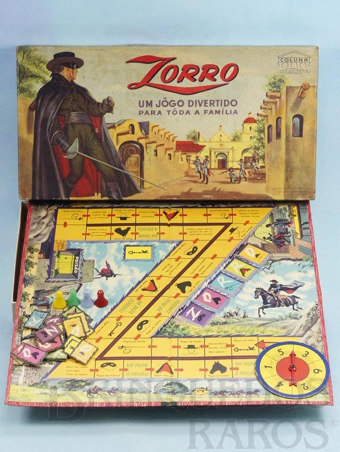 Brinquedo antigo Jogo Zorro Walt Disney Década de 1960