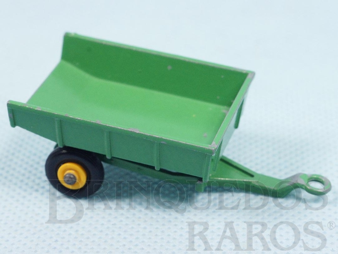Brinquedo antigo John Deere Trailer Black Plastic Regular Wheels