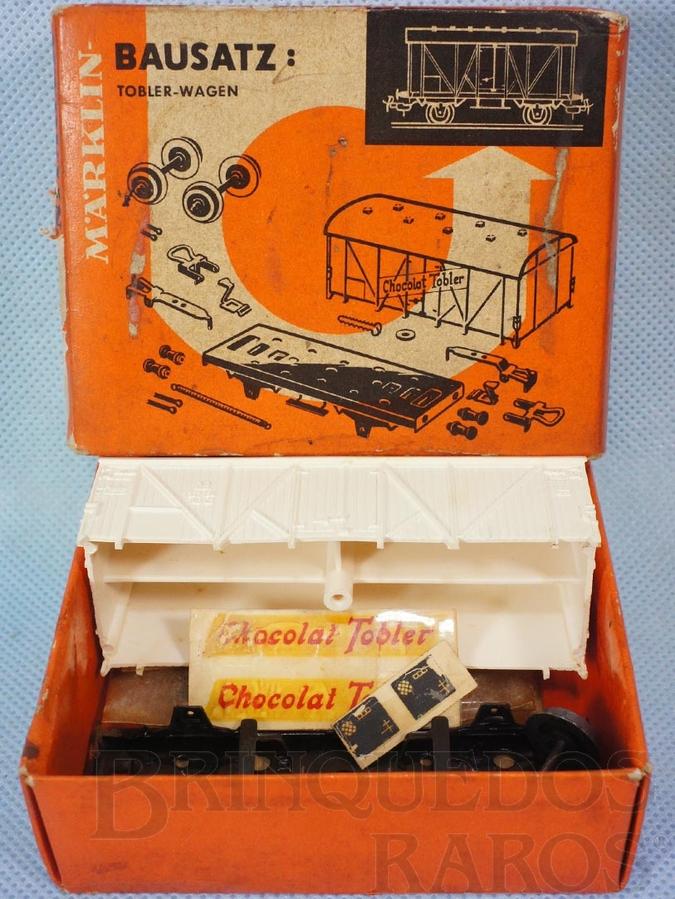 Brinquedo antigo Kit para montar Vagão Furgão Chocolat Tobler desmontado Década de 1950