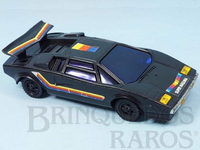 Brinquedo antigo Lamborghini Countach Spectro Série Super Máquina com 20,00 cm de comprimento Década de 1980