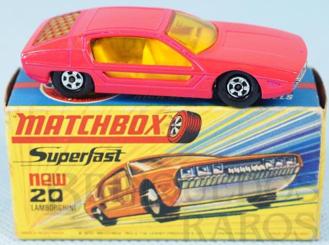 Brinquedo antigo Lamborghini Marzal Superfast Transitional Weels salmão