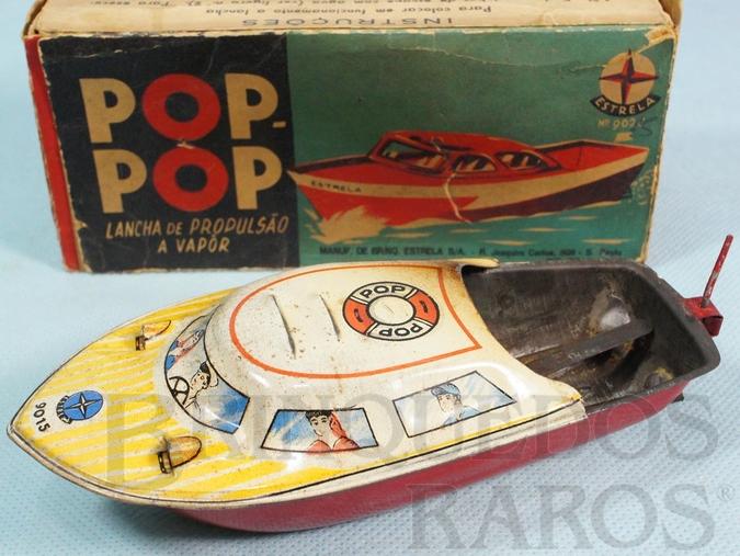 Brinquedo antigo Lancha Pop Pop original Ano 1962 a 1966