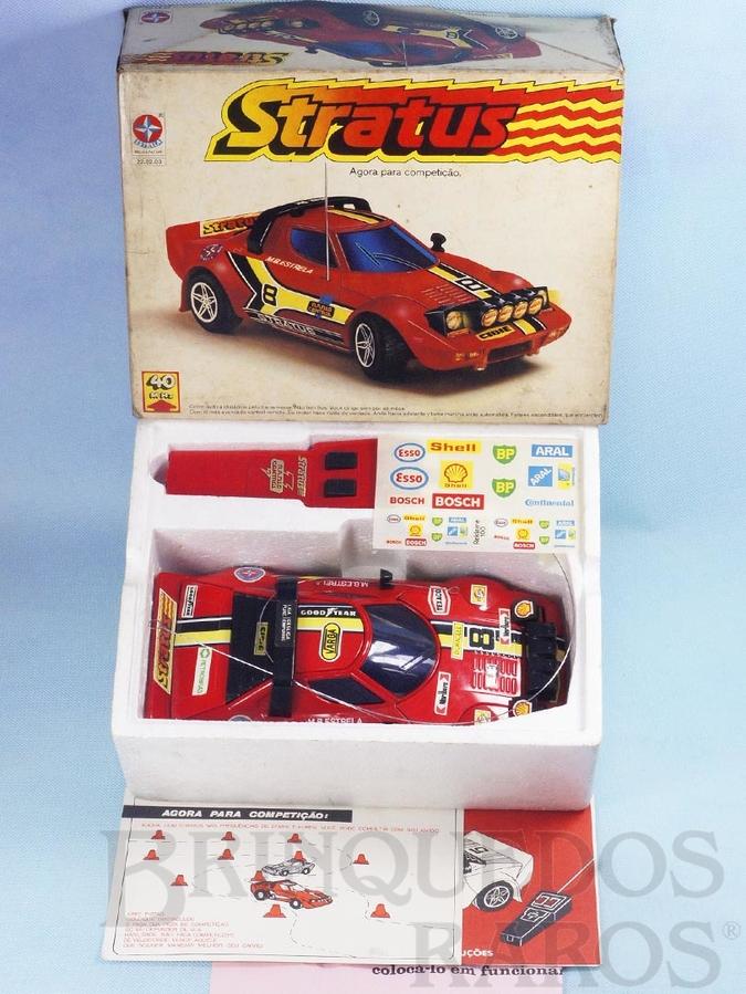 Brinquedo antigo Lancia Stratus com 28,00 cm de comprimento Rádio Controle 40 Mhz Série Competição Ano 1980
