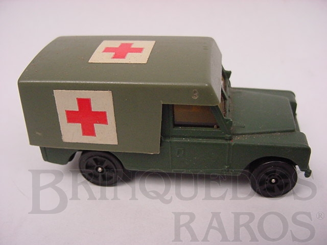Brinquedo antigo Land Rover Army Ambulance Whizzwheels Corgi Jr