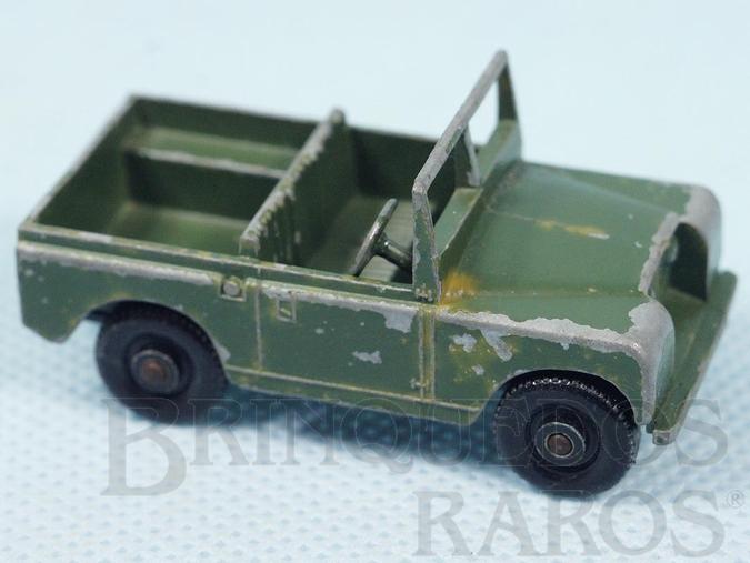 Brinquedo antigo Land Rover Black Plastic Regular Wheels