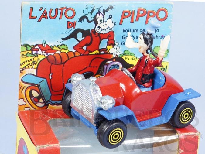 Brinquedo antigo Le Auto di Pippo Carro do Pateta 8,00 cm de comprimento Walt Disney Polistil Década de 1970