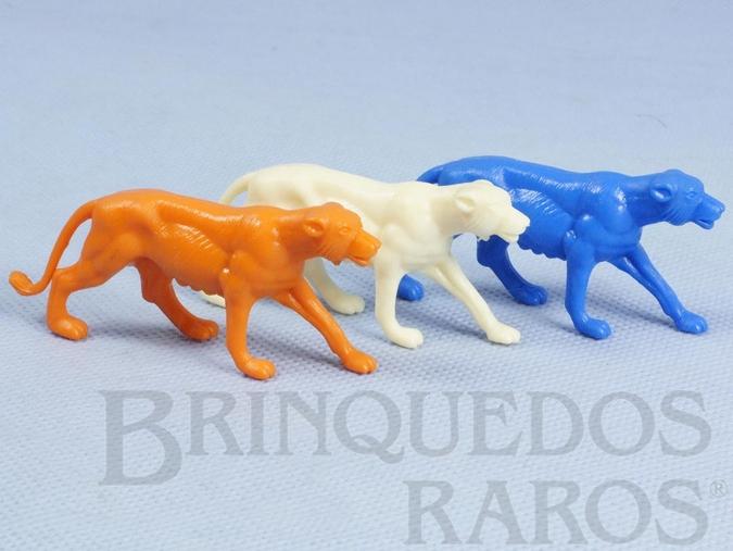 Brinquedo antigo Leoa diversas cores Série Zoológico Década de 1970 Preço por unidade