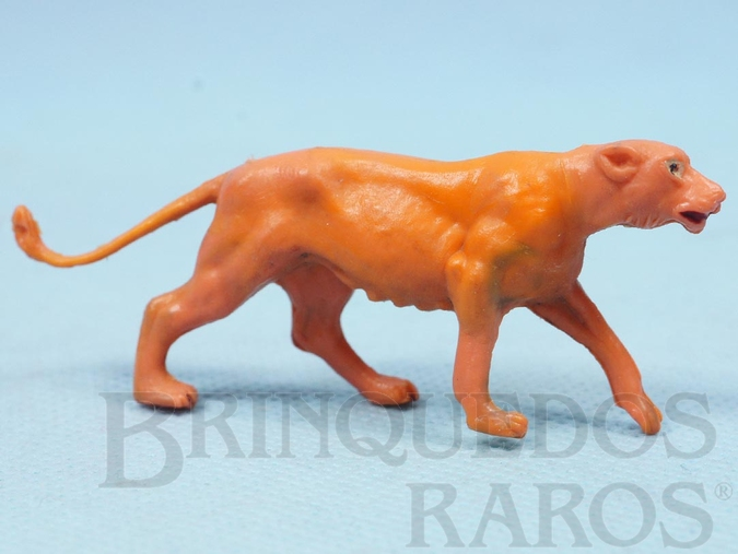 Brinquedo antigo Leoa Série Zoológico Década de 1960