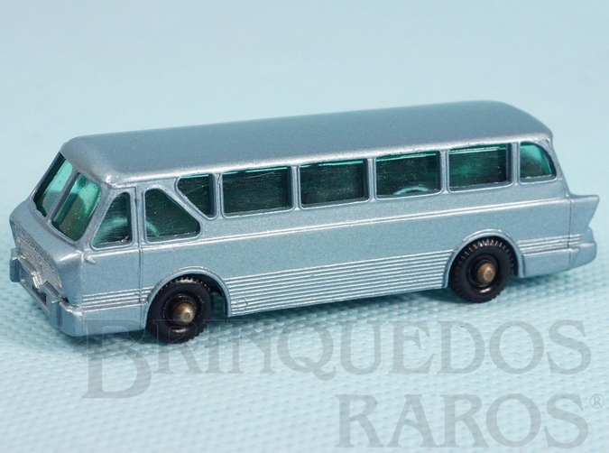 Brinquedo antigo Leyland Royal Tiger Coach black plastic Regular Wheels