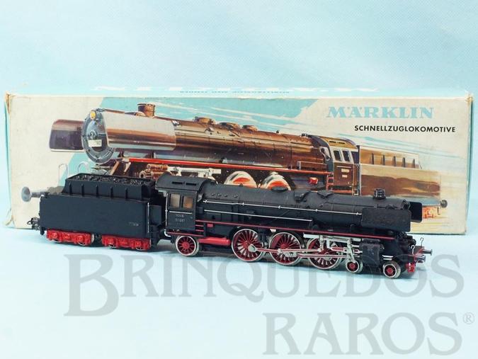 Brinquedo antigo Locomotiva a Vapor Classe BR 01 Rodagem 2`C1` DB Número 3048 previsão para colocar Gerador de Fumaça Comprimento 28,00 cm Ano 1961 a 1963