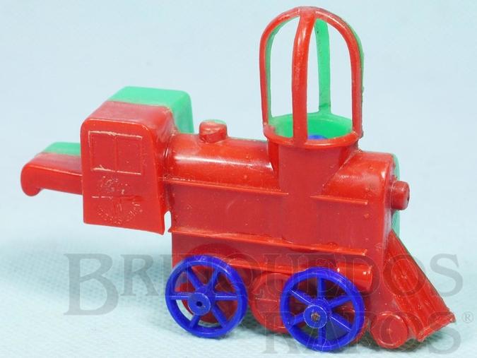 Brinquedo antigo Locomotiva Apito com 9,00 cm de comprimento Numerada 11 Década de 1960