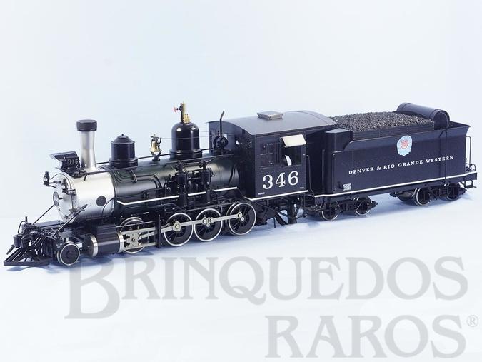 Brinquedo antigo Locomotiva C-19 Classe Consolidation 2-8-0 Denver & Rio Grande R.R. com 78,00 cm de comprimento e 7,2 Kg de peso Botola 45,0 mm