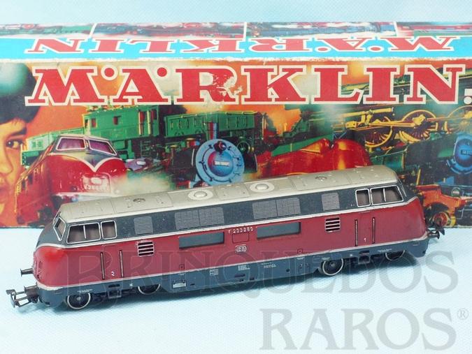 Brinquedo antigo Locomotiva Diesel Hidraúlica Classe BR V200 Rodagem Co`Co` DB Número 3021 Classificação Koll`s 3021/12 Ano 1970 a 1984 Comprimento 22,00 cm