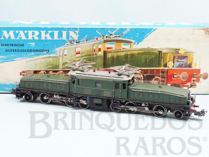 Brinquedo antigo Locomotiva Elétrica Classe BR Ce6/8 Rodagem (1`C) (C1`) Krokodil Crocodilo Número 3015 Classificação Koll`s CCS800/10  Ano 1959 a 1964 Comprimento 27,00 cm