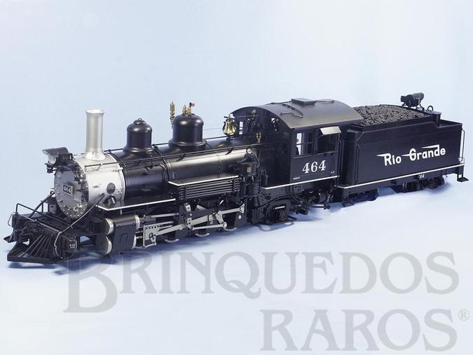 Brinquedo antigo Locomotiva K-27 Classe Mudhen 2-8-2 Denver & Rio Grande R.R. com 90,00 cm de comprimento e 11,00 Kg de peso Bitola 45,0 mm