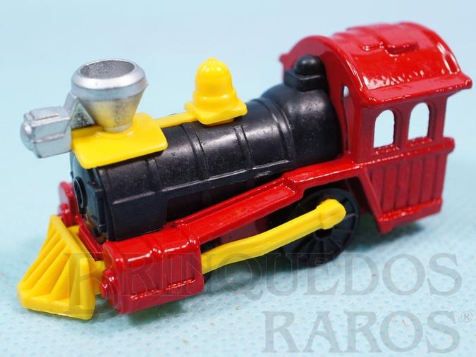 Brinquedo antigo Locomotiva Railroad Locomotive Série Wild West Brazilian Corgi Jr Kiko Década de 1980