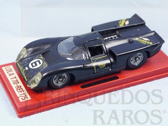 Brinquedo antigo Lola T70 MK3B preta Fabricada pela Brosol Solido brésilienne Datada 1-1970