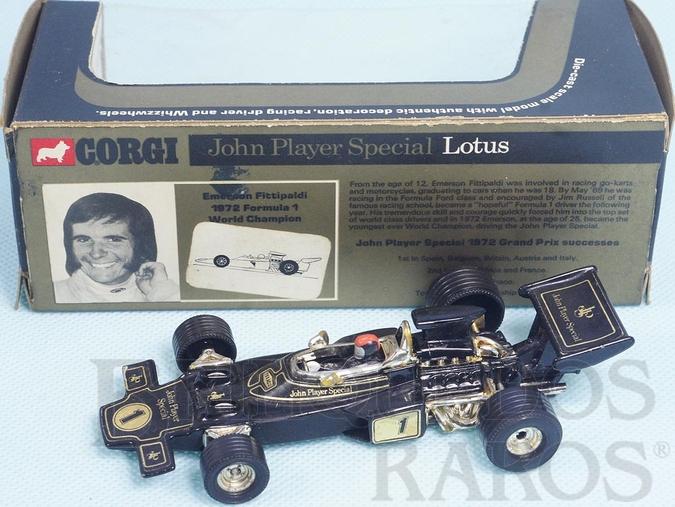 Brinquedo antigo Lotus 72C John Player Special Edição Comemorativa Emerson Fittipaldi Ano 1973