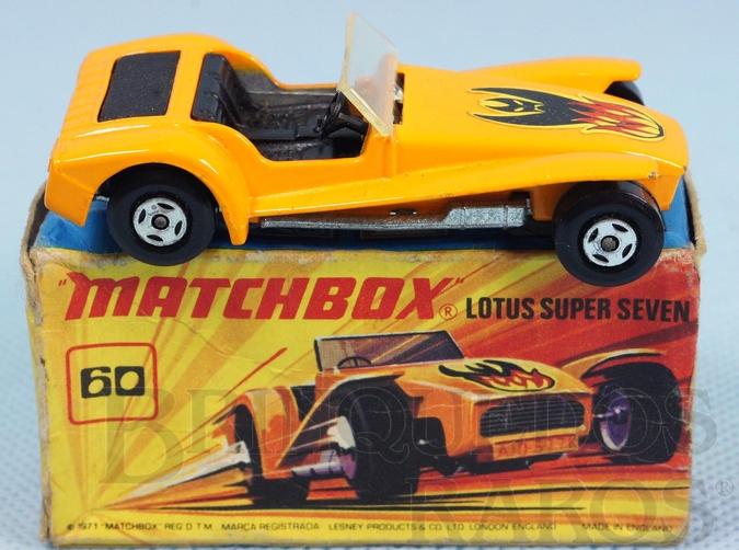 Brinquedo antigo Lotus Super Seven Superfast laranja