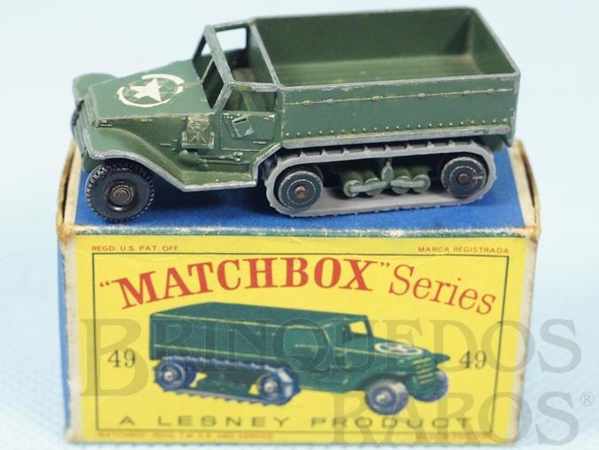 Brinquedo antigo M3 Personal Carrier Black Plastic Regular Wheels