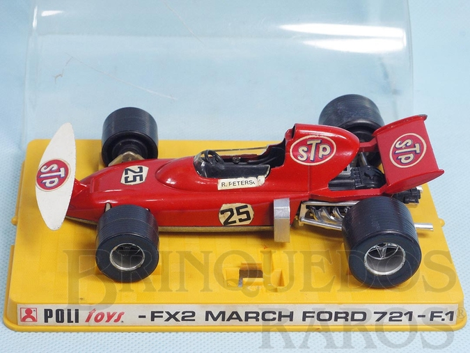 Brinquedo antigo March Ford 721 Formula 1 piloto Ronnie Peterson Politoys Ano 1972