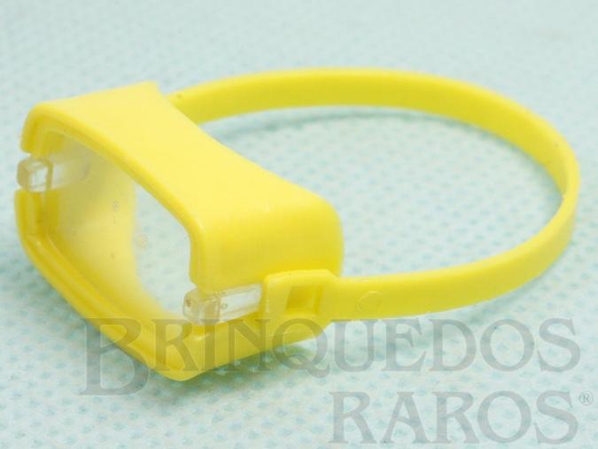 Brinquedo antigo Máscara de mergulho amarela Aventura Ameaça Submarina Ano 1979