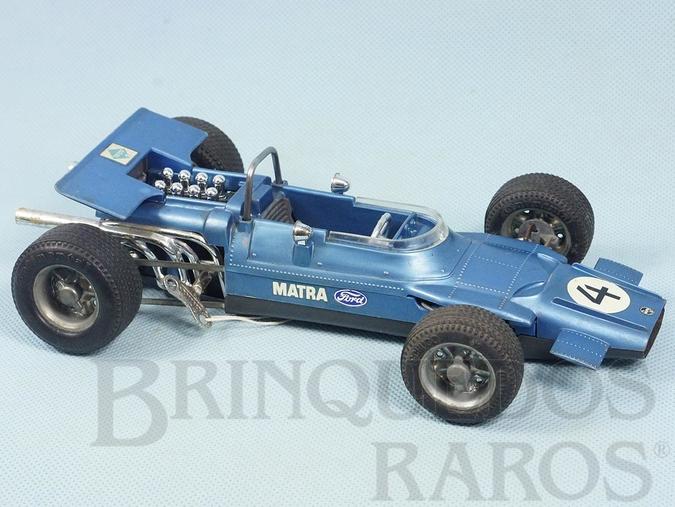 Brinquedo antigo Matra Ford Fórmula 1 com 22,00 cm de comprimento Década de 1970