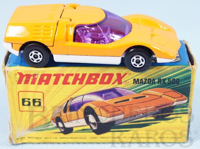 Brinquedo antigo Mazda RX500 Superfast laranja Década de 1970