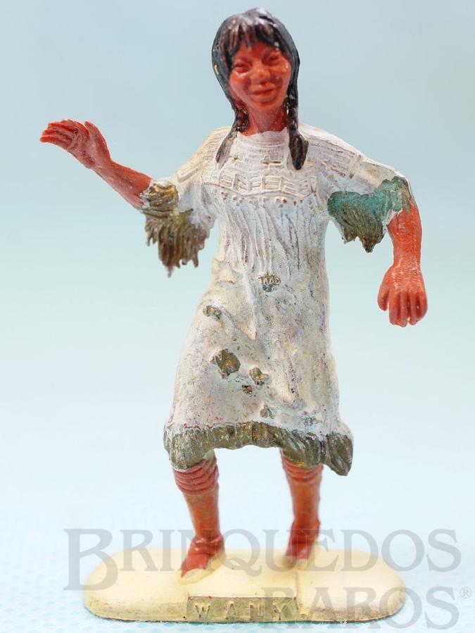 Brinquedo antigo Menina índia com 5,5 cm de altura Matriz da Figura Raio de Sol fabricada pela Casablanca Década de 1950 Coleção Miguel Cerrato