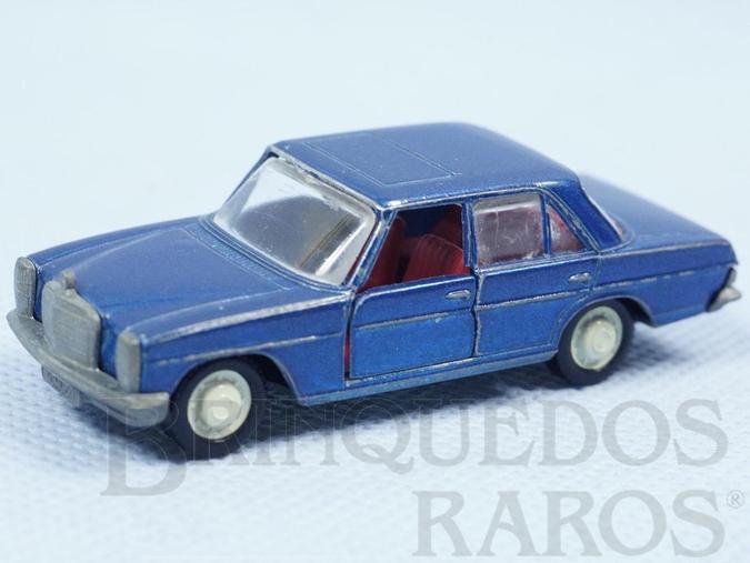 Brinquedo antigo Mercedes Benz 200 azul metálico