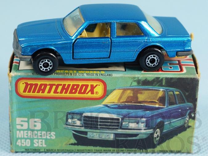 Brinquedo antigo Mercedes Benz 450 SEL Superfast azul metálico
