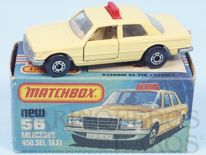 Brinquedo antigo Mercedes Benz 450 SEL Taxi Superfast