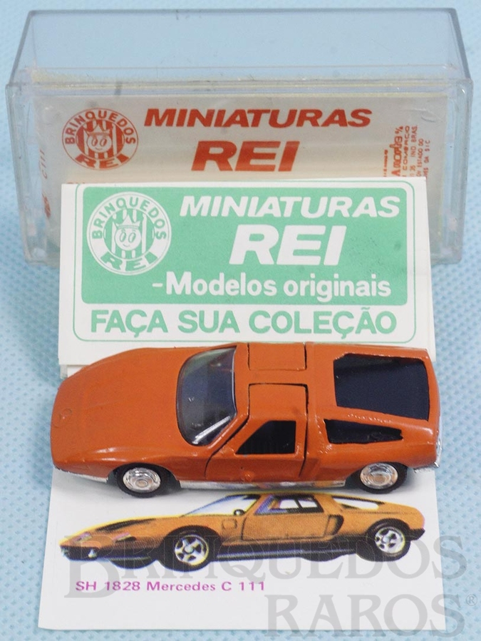 Brinquedo antigo Mercedes Benz C-111 Brasilianische Schuco Rei completo com Catálogo e Cromo