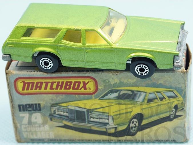 Brinquedo antigo Mercury Cougar Villager Superfast verde metálico