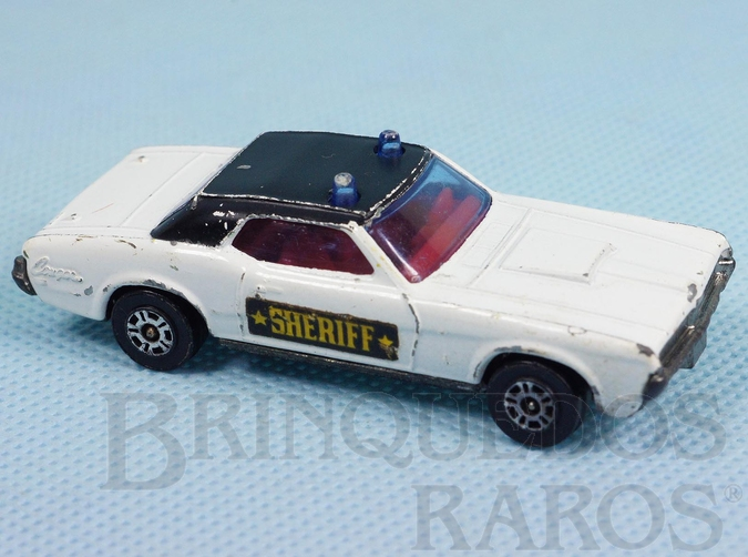 Brinquedo antigo Mercury Cougar XR7 Sheriff Corgi Jr Whizzwheels